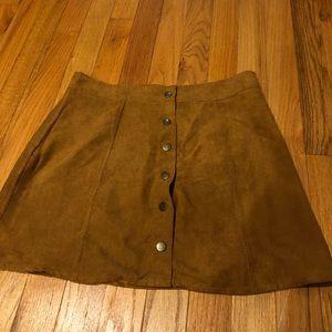 Light brown mini skirt